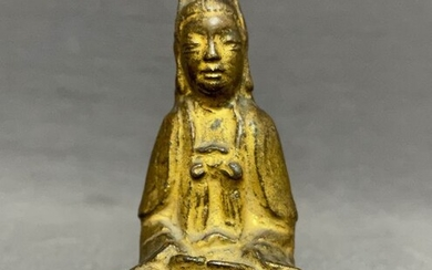 Sculpture - Bronze - Guanyin - Chinese - Devotional sculpture - High quality - China - Ming Dynasty (1368-1644)