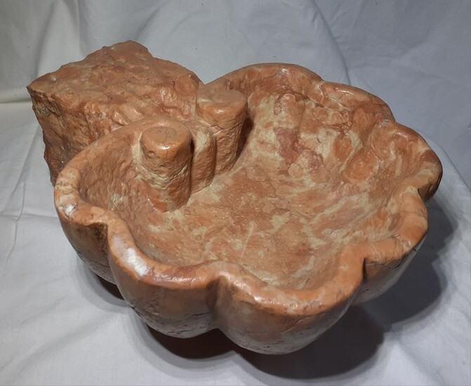 Stoup (1) - Baroque - Red marble from Verona - Late 19th century