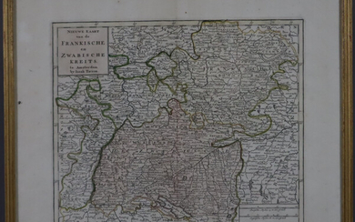 TIRION, ISAAK - Map of Franconia and Swabia.