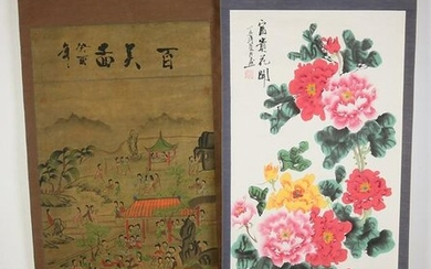 Two Chinese scroll paintings