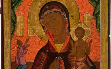 A LARGE ICON SHOWING THE MOTHER OF GOD 'OF UNEXPECTED