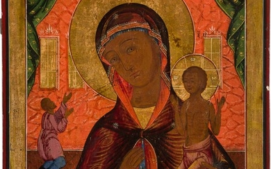 A LARGE ICON SHOWING THE MOTHER OF GOD 'OF UNEXPECTED...