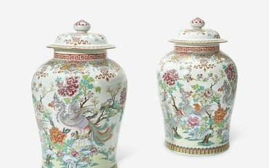 A Large Pair of Samson Chinese Export Style Famille