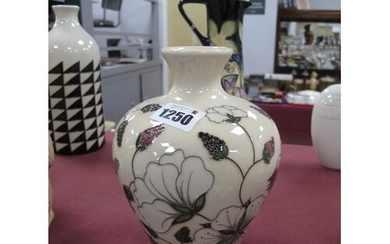 A Moorcroft Pottery Vase, painted in the 'Bramble Revisited'...