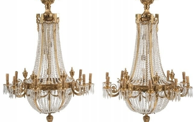 A Pair of French Neoclassical-Style Gilt Bronze