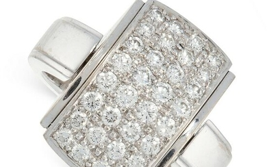 A REVERSIBLE DIAMOND RING, MELLERIO in 18ct white gold