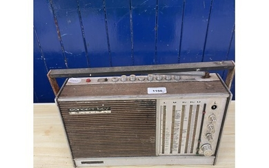 A Roberts R606-MB portable radio, and various other audio eq...
