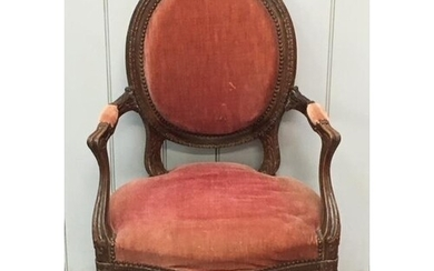 A late 18th century French Armchair. Dimensions(cm) H94 (40...