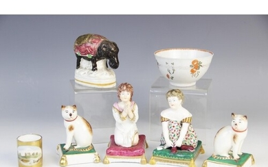 A selection of 19th century Staffordshire figures, to includ...