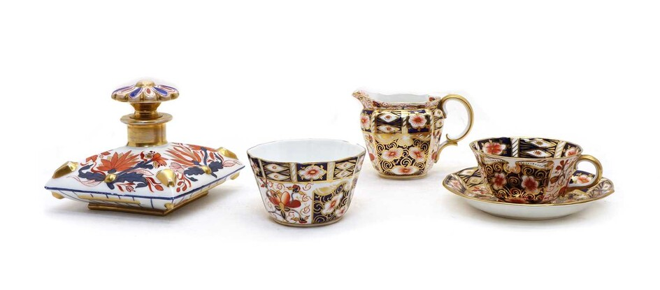 A small collection of Crown Derby Imari palette teaware