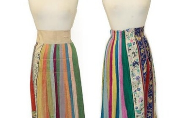 An Early 20th Century Chinese Embroidered Silk Skirt Panel, in...