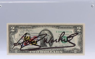"""Andy WARHOL (1928-1987). """"Two dollars bill"""" Note of 2 American..."""
