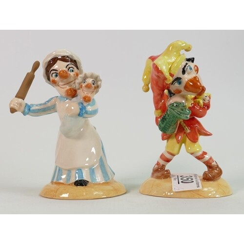 Beswick Punch & Judy figures: limited edition, boxed with ce...