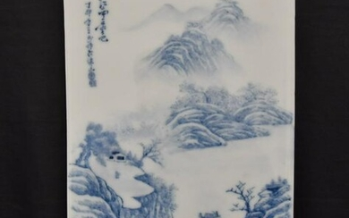 CHINESE PORCELAIN BLUE & WHITE PLAQUE