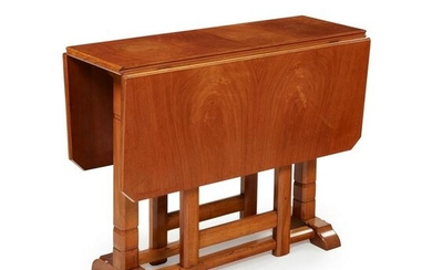 COTSWOLD SCHOOL DROP-LEAF OCCASIONAL TABLE, CIRCA 1920