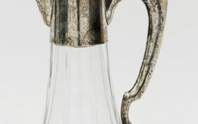Carafe with silver mounting, German