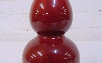 """Chinese double gourd Sang de Boeuf vase, Oxblood, 6.5"""""""
