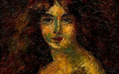 Impressionist Portrait of a Young Woman