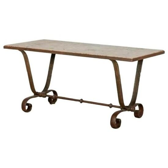 Italian Iron and Marble table