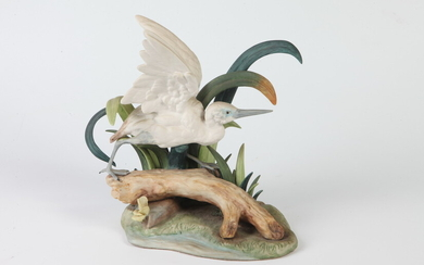 """LIMITED EDITION PORCELAIN FIGURE: """"SMALL WHITE HERON"""". Limited edition, 365/500...."""