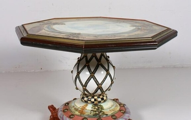 Mackenzie Childs paint decorated center table
