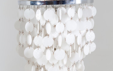 Murano glass and metal chandelier. 1970s