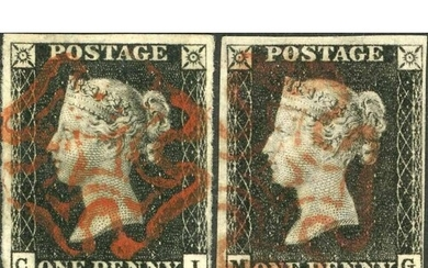 PLATE 7 - CI & MG - each fine with four margins though close...