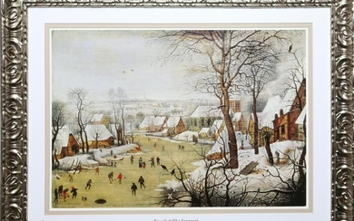 Pieter Bruegel, Winter Landscape with Skaters and