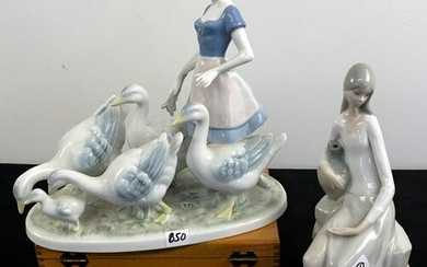 Porcelain Figurines by Lladro NAO and Gerold Porzellan