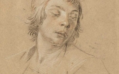 Reni, Guido. A Study of a Youth's Head, and a Study of a Hand, late 17th century