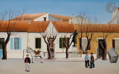 Robert BROUSSOLLE (born in 1931)Saintes-Maries-de-la-Mer, place MireilleOilon canvas.Signed lower right.Titled on the back on the frame.33 x 46 cmProvenance:Galerie Michèle Brabo, Saintes-Maries-de-la-Mer (label on the back).
