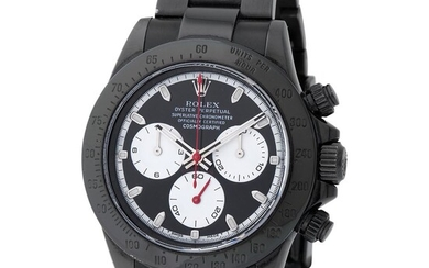 Rolex. Limited Edition Bamford and Remarkable Daytona Chronograph Wristwatch in PVD, Reference 116 520, With Box and Papers