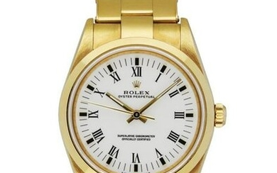 Rolex Oyster Perpetual 14208 18K Yellow Gold Men's