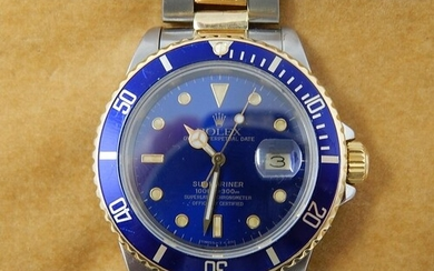 Rolex Submariner 16613 Oyster Perpetual 18ct Gold & Steel Ge...