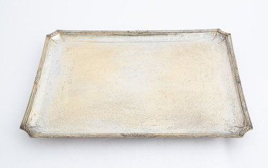 Silver tray, gr. 2740 ca. Early 20th century
