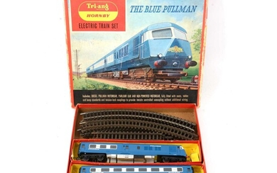 Triang Hornby OO gauge electric train set RS52, The Blue Pullman, boxed.