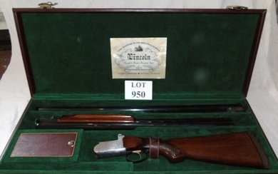 Twin barrel set over-and-under 12g shotgun by Lincoln to Dav...