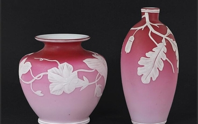 Two Cameo Glass Vases.