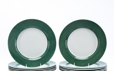 12 PCS, SPODE VERMICELLI GREEN CHARGERS