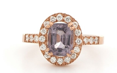 18 kt. Pink gold - Ring - 2.50 ct Spinel - Diamonds