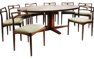 A Danish rosewood dining table, §