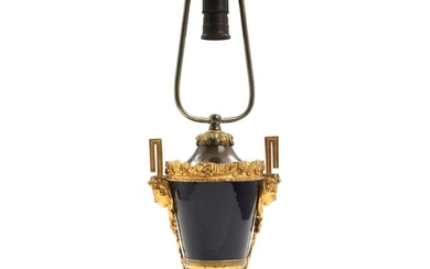 A late 19th century French gilt bronze and bleu de roi glazed porcelain table lamp. H. 54 cm. incl. mounting. – Bruun Rasmussen Auctioneers of Fine Art