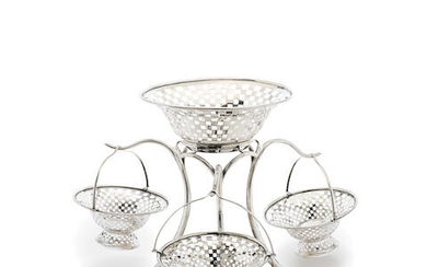 A silver epergne