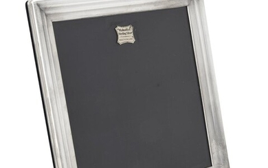 A silver mounted square photo frame