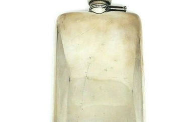 Antique Sterlin Silver Flask Collectable Decorative