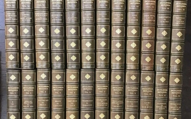 Bindings. Encyclopaedia Britannica, 14th edition, 1932, 4to, full green morocco gilt by Riviere &