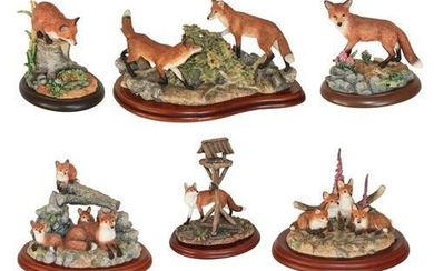 Border Fine Arts Fox Models Including; 'The Berry Pickers' (Two...