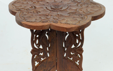 Carved stool.