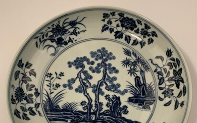Chinese Ming Blue and White Dish