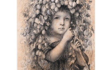 E… W… R… (20th Century) British. A Young Girl with a Garland...